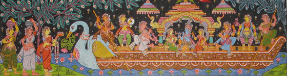Lord Krishna enjoying with Gopis