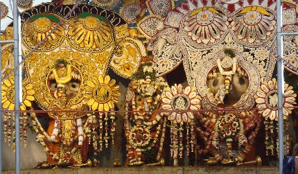 Lord Jagannath, Balabhadra and Subhadra in their elephant form (Hati Vesha)
