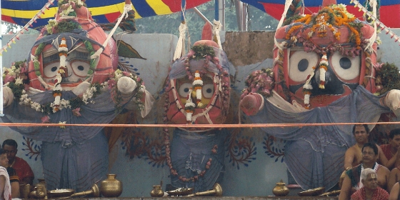 Three Deities on the Snana Mandap