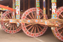 Wheels of Goddess Subhadra's Chariot