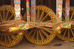 Wheels of Lord Jagannath's Chariot