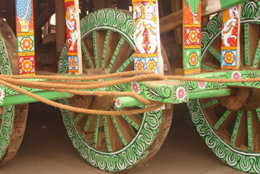Wheels of Lord Balabhadra's Chariot