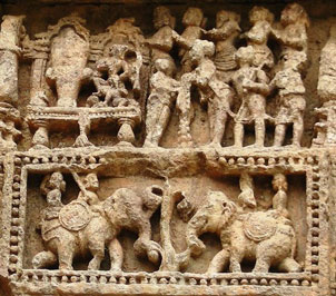 Carving at Konark Temple