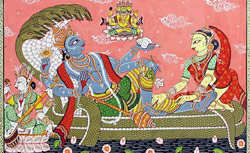 Lord Vishnu and Goddess Laxmi